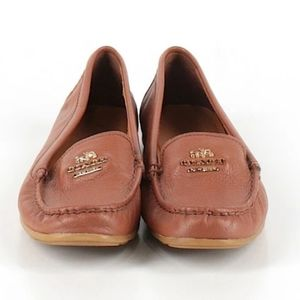 Coach Tan Mocassin Slip On Shoes